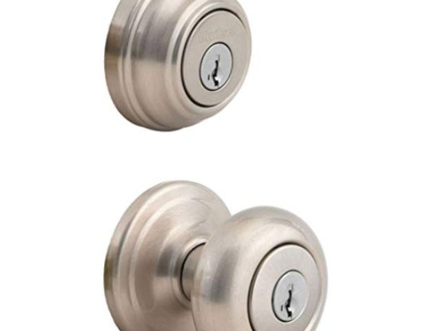 BRASS OR STAINLESS STEEL MOBILE HOME EXTERIOR ENTRANCE DOOR LOCK KNOB