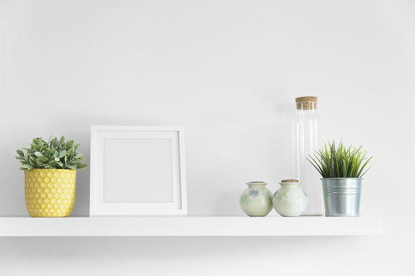 White Wood Floating Shelf