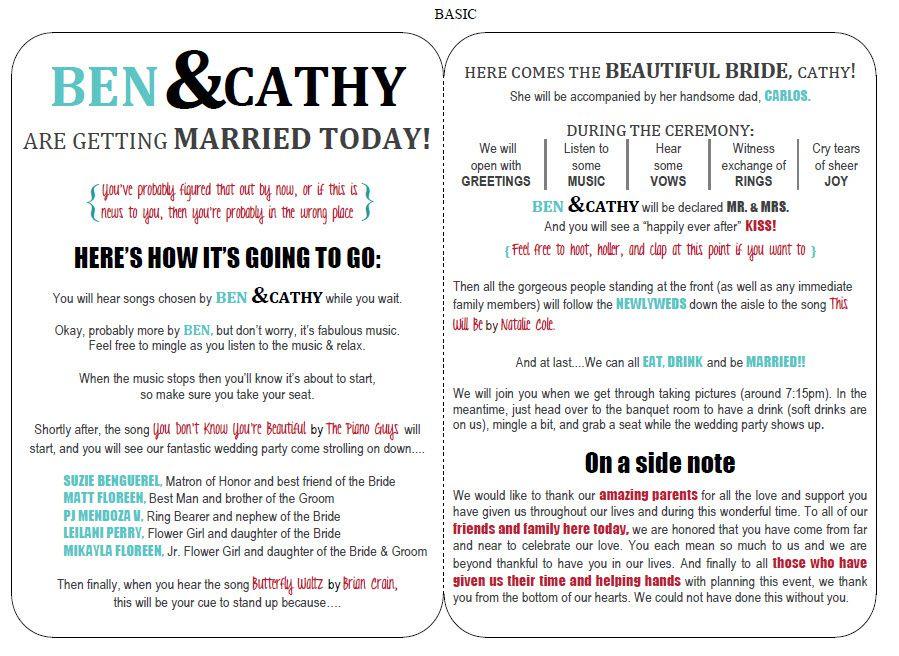 71 Free Wedding Program Templates You Can Customize