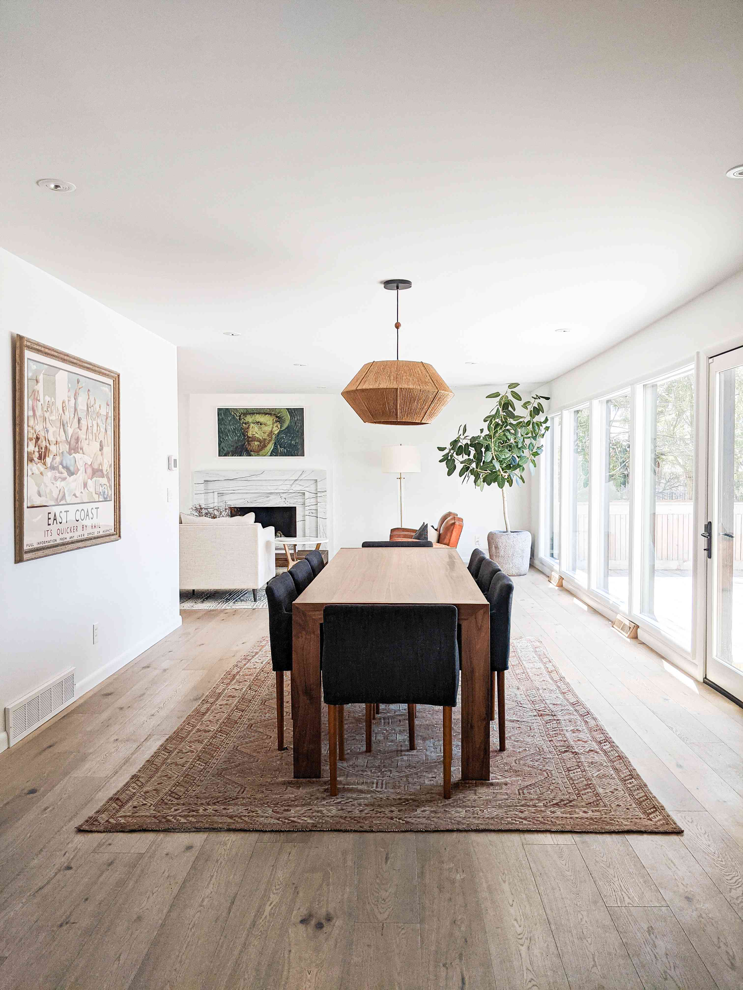 The dining area of Molly & Fritz's Shaker Heights home