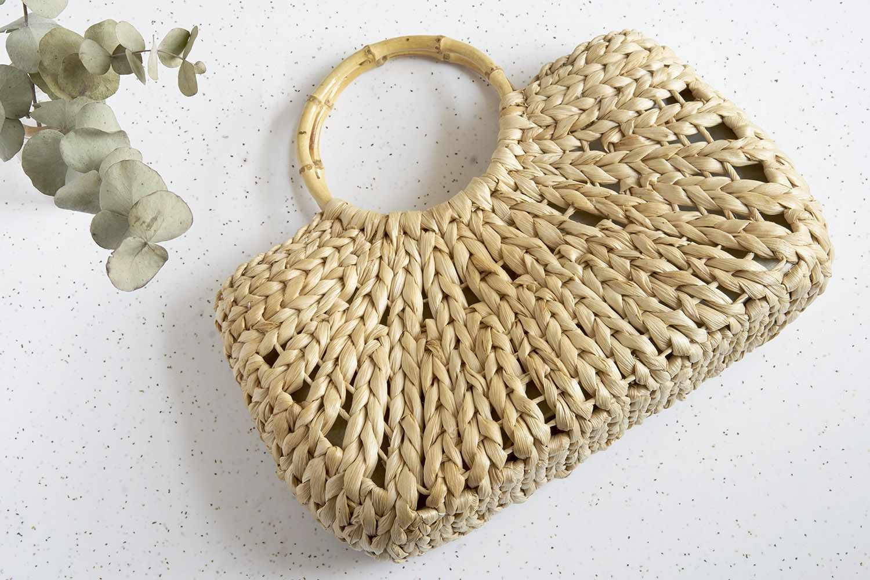A bag air-drying near a plant