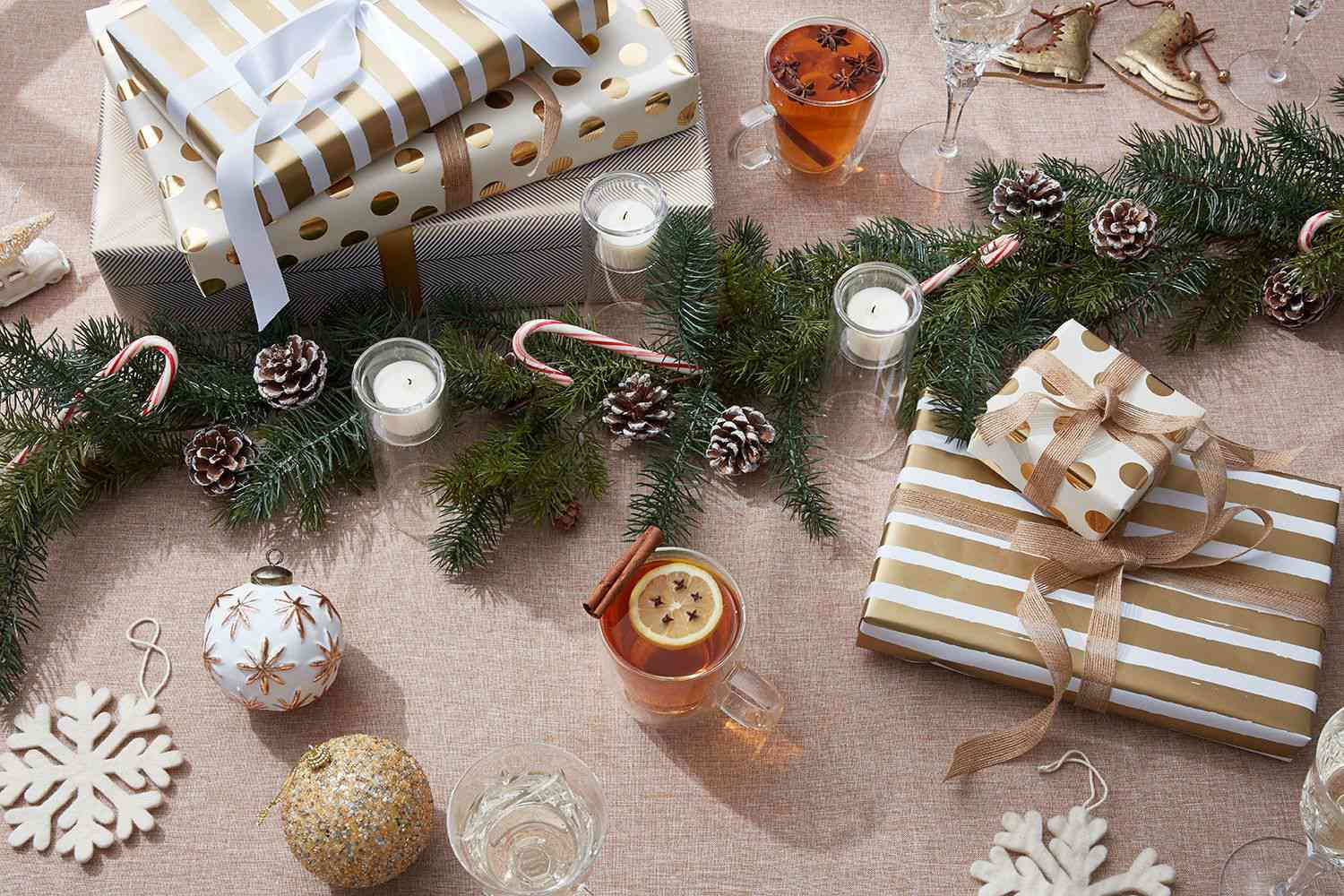 incorporating greenery and pinecones into holiday decor