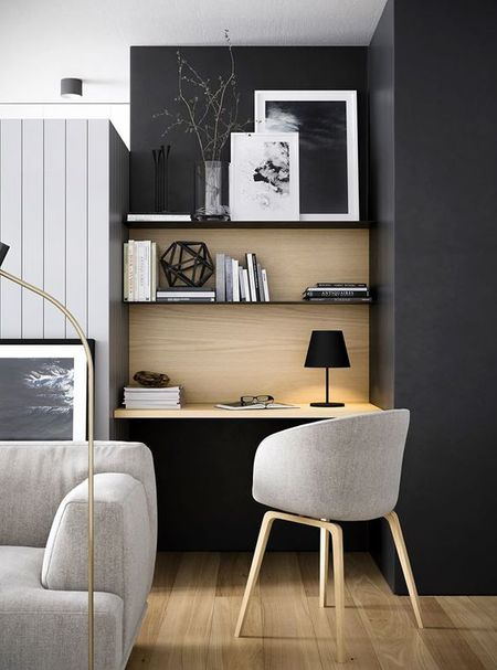 Modern Home Office Shelving