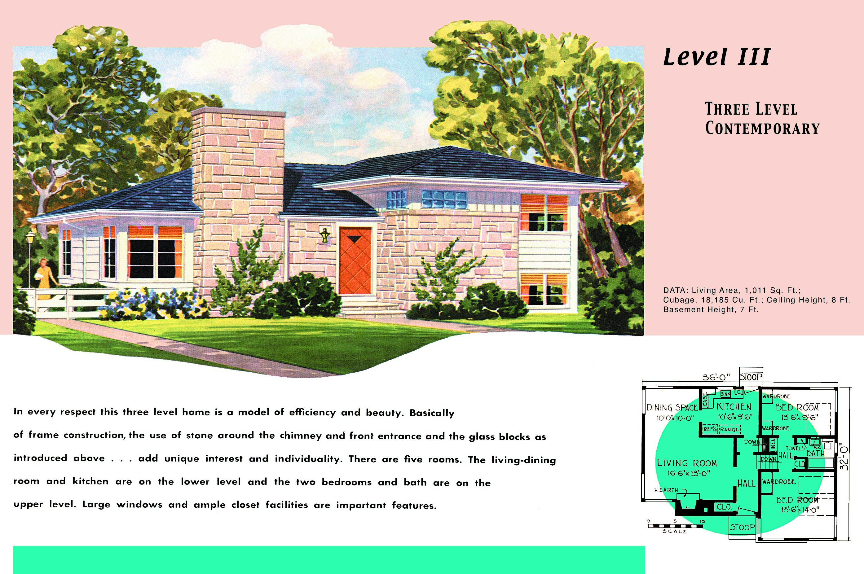 1950s House Plans for Por Ranch Homes on