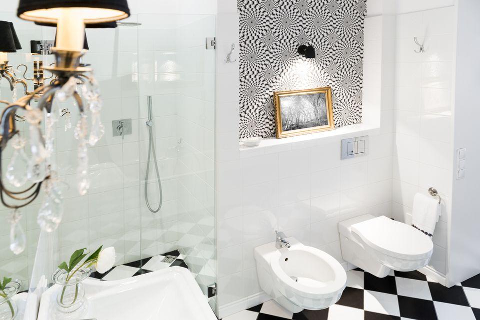 Bidet in Bathroom Next to Toilet