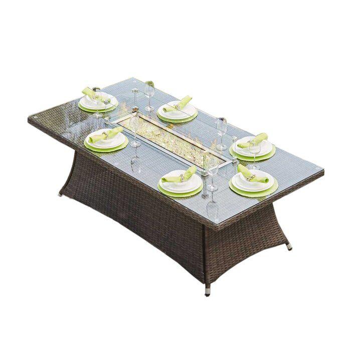 Lawson Aluminum Propane Fire Pit Table