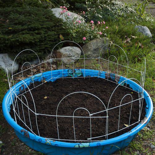 kiddie pool planter