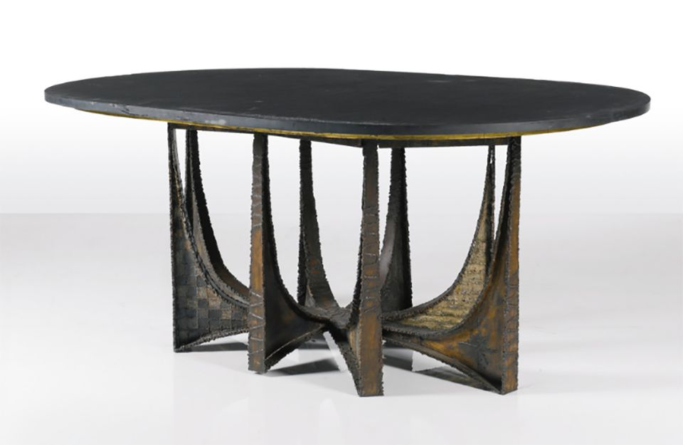 Paul Evans dining table in collaboration with Philip Lloyd Powell, c. 1964