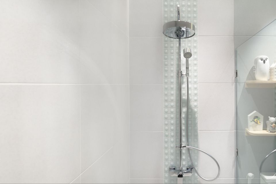Inside of a shower stall - How often should you shower?