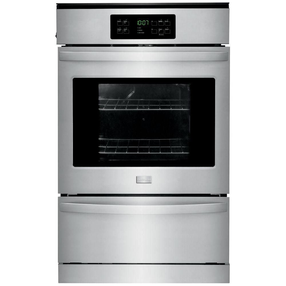 Frigidaire 24 in. Single Gas Wall Oven Self-Cleaning in Stainless Steel