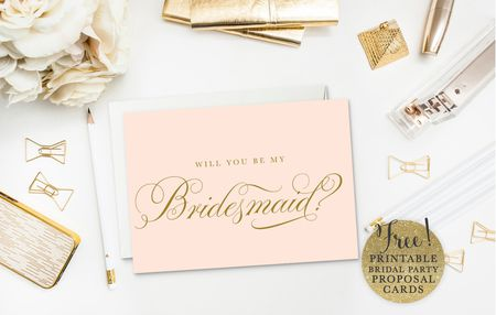 19 free printable will you be my bridesmaid cards