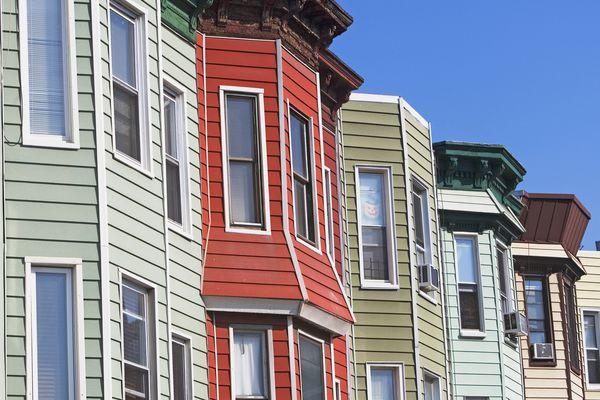 Colorful Shiplap Siding on Houses