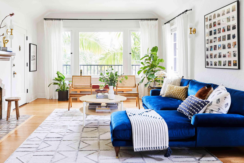 furniture arranged to make a room look bigger