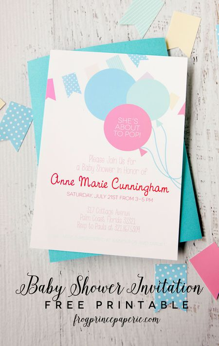 19 sets of free baby shower invitations you can print a baby shower invitation that says shes about filmwisefo