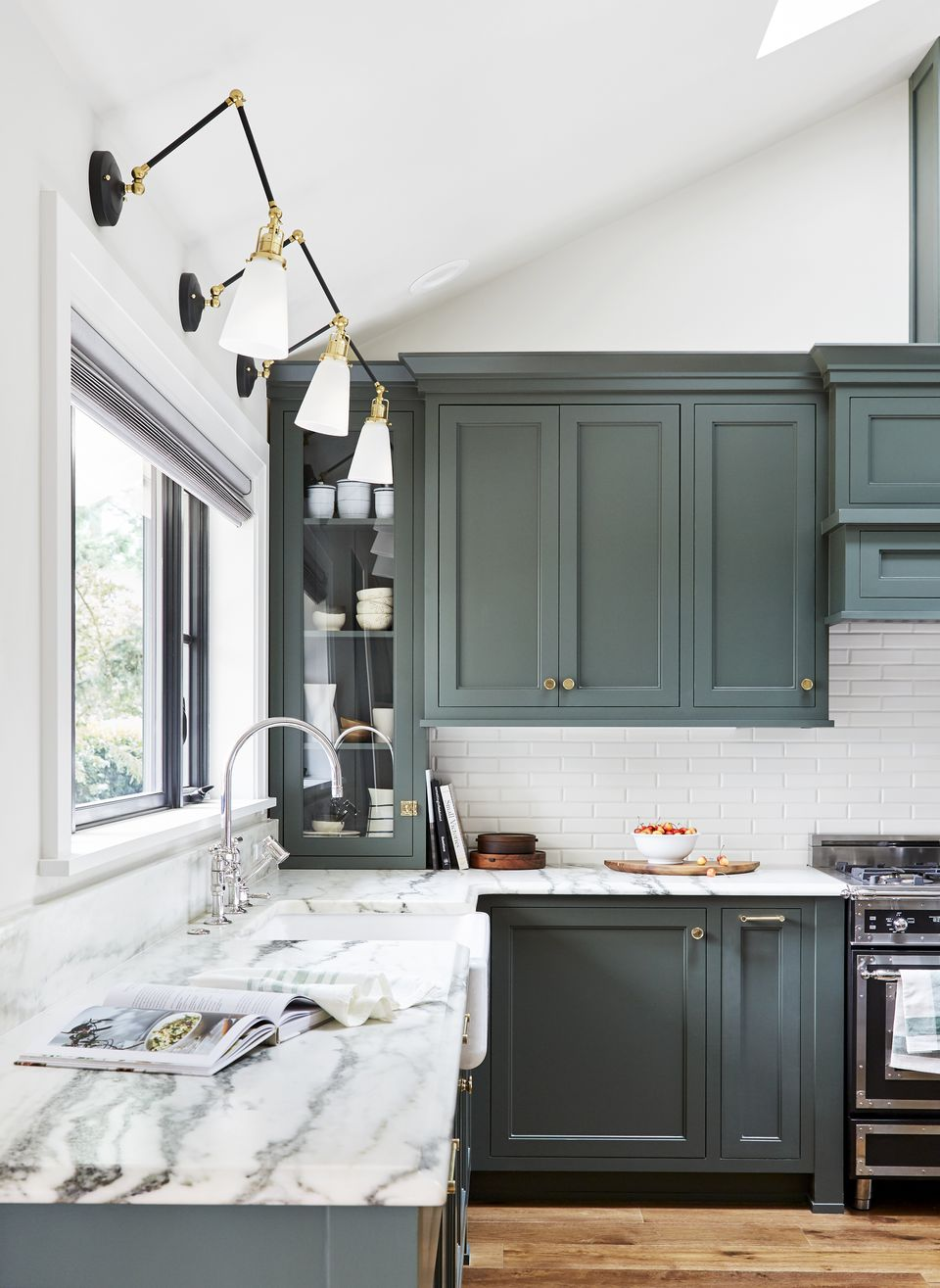 Kitchen in pewter green