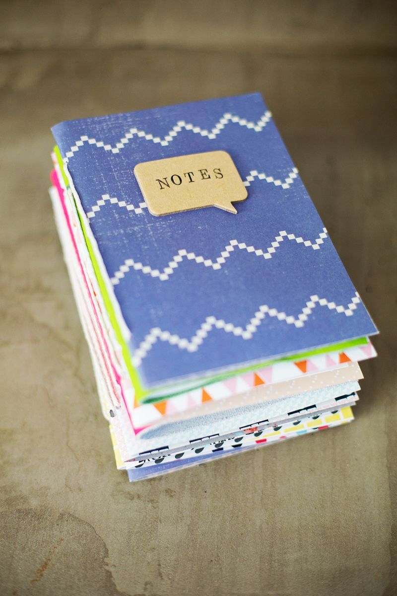 A stack of homemade journals