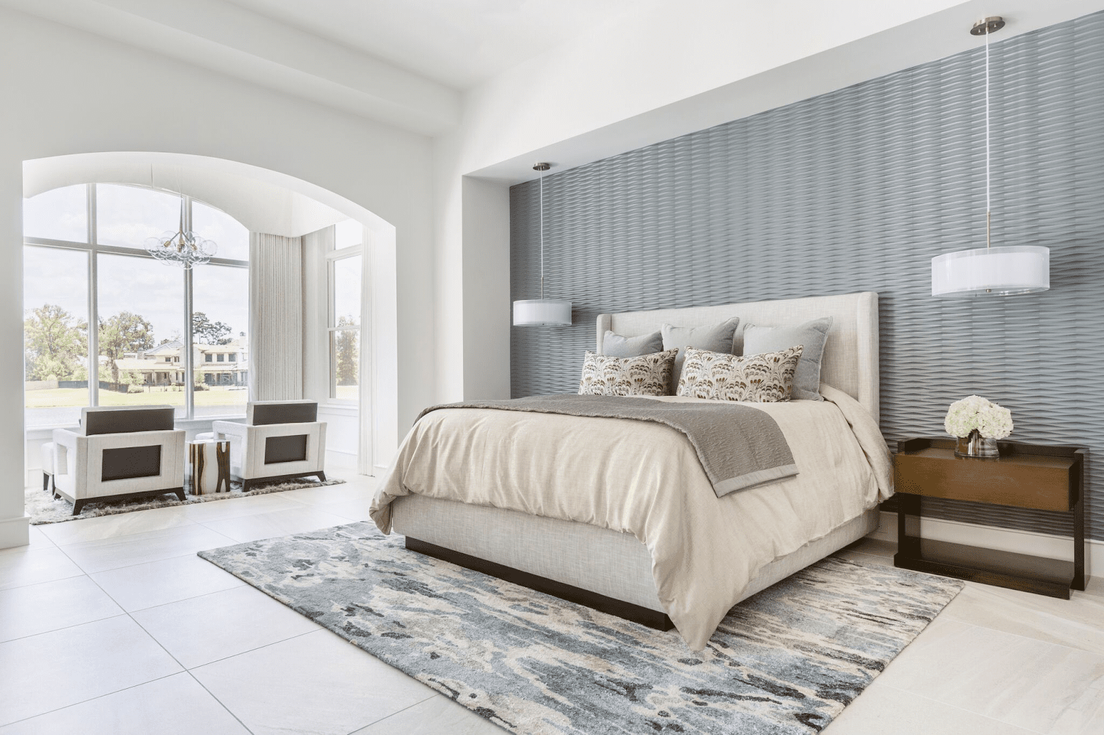5 Beautiful Wallpapered Bedrooms