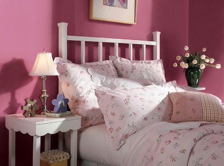 Elegant Pink Color Combination for Bedroom