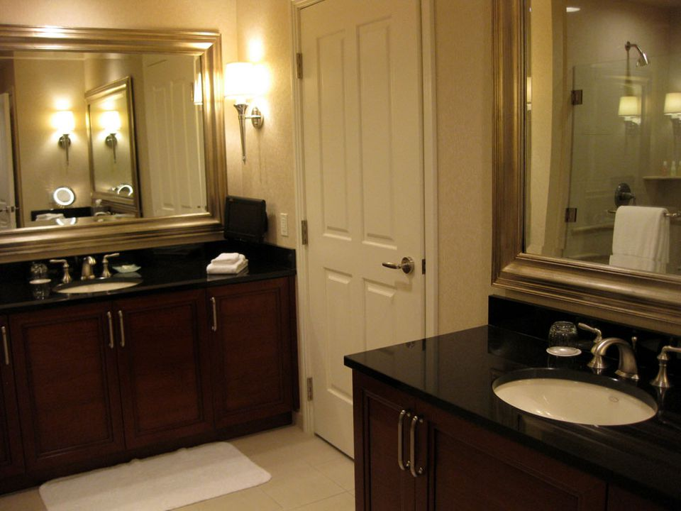 Bathroom Double Vanities at Signature at MGM Grand in Las Vegas