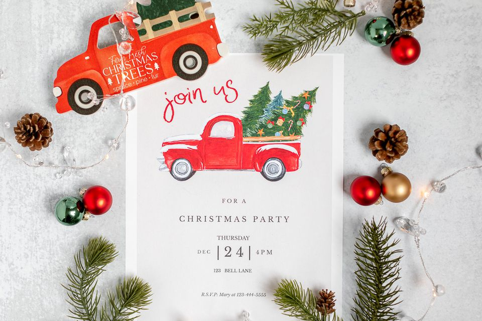 free Christmas invitation