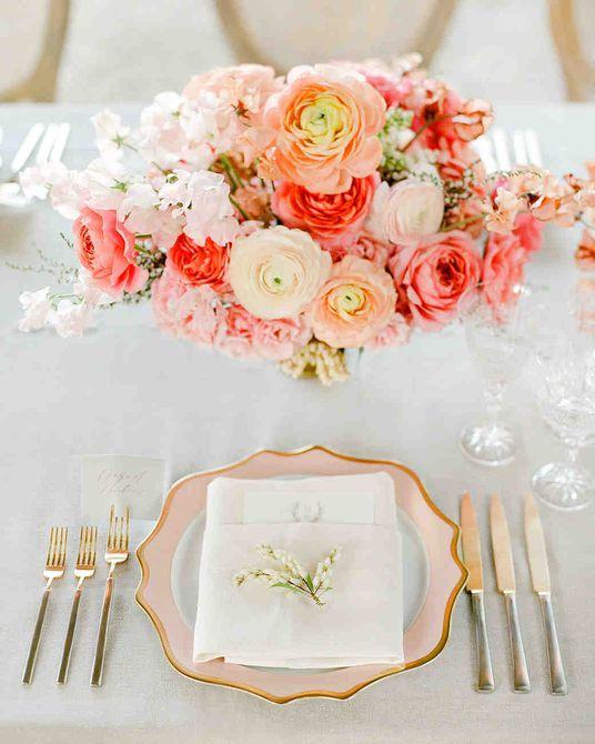Ranunculus Spring Centro de mesa para bodas