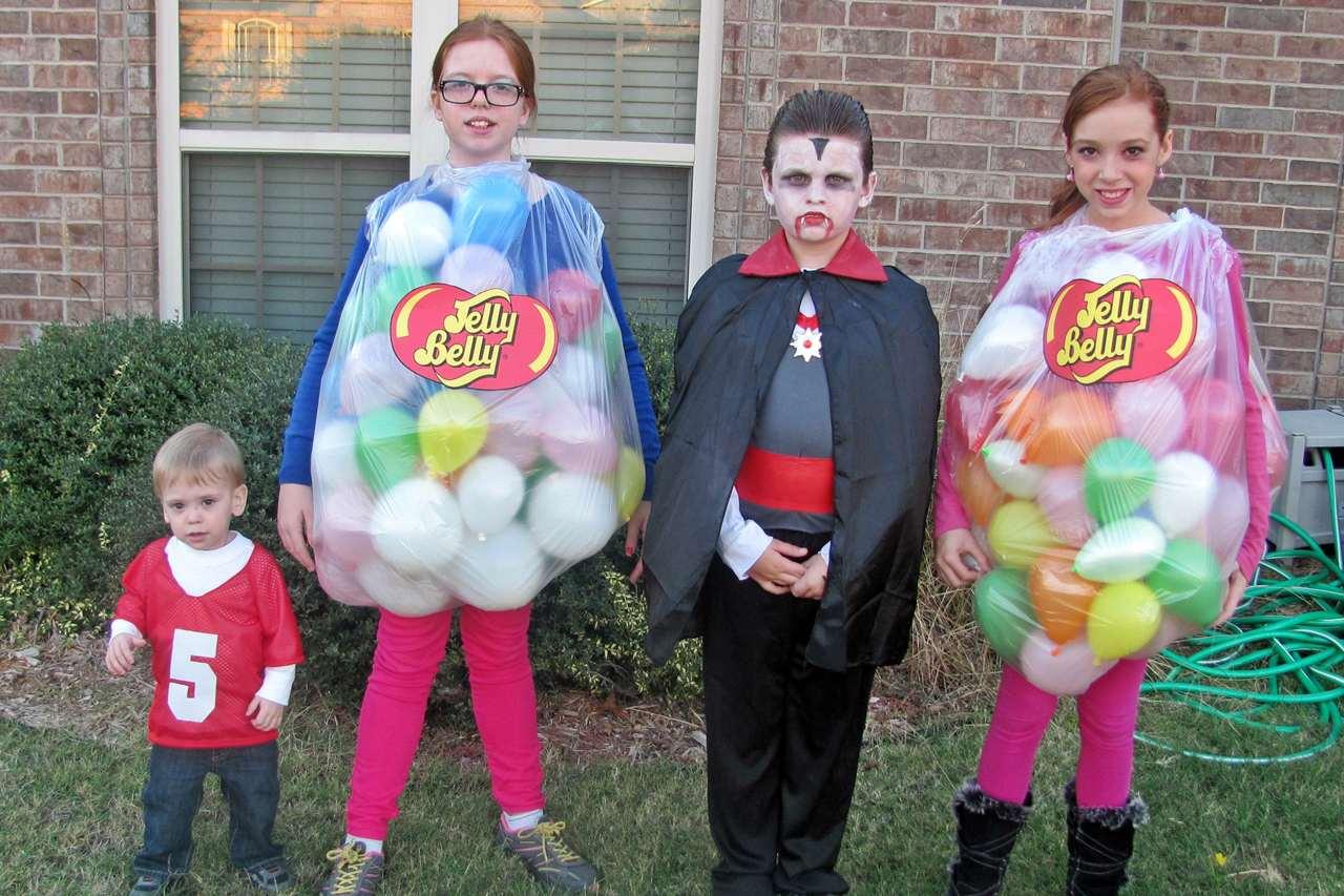 DIY jelly bean costume for kids