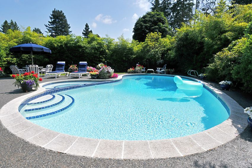a backyard pool