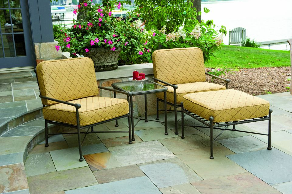 Colorful patio furniture