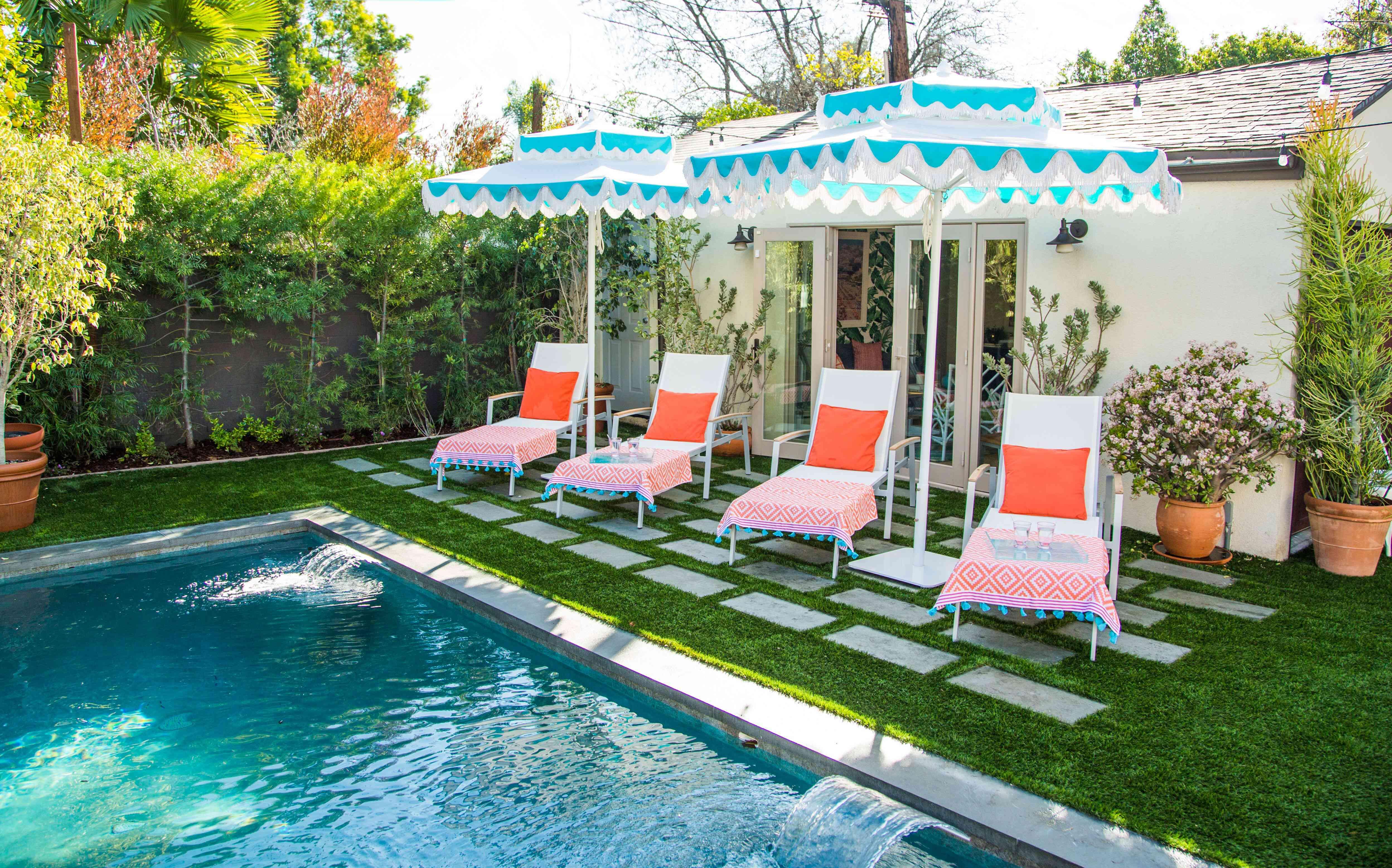 Ideas de decoración de la casa de la piscina