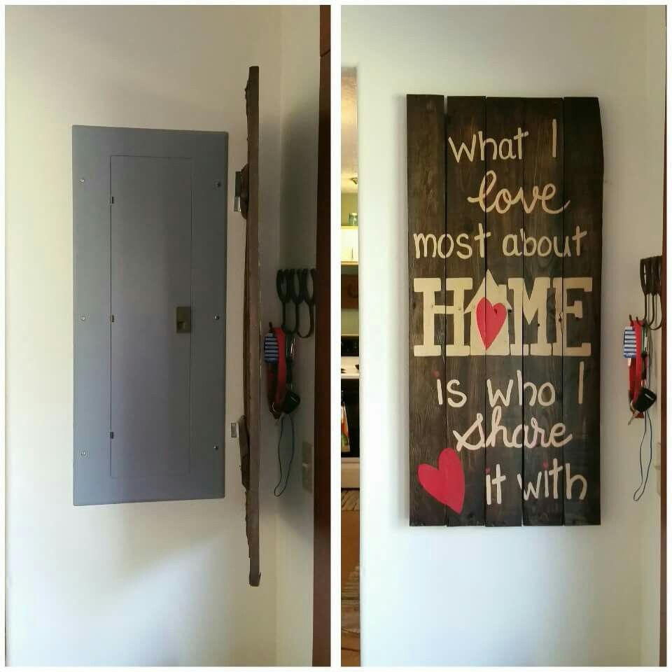 13 Ways to Hide Eyesores in Your Home | Wooden Framed Doors Over Fuse Box |  | The Spruce