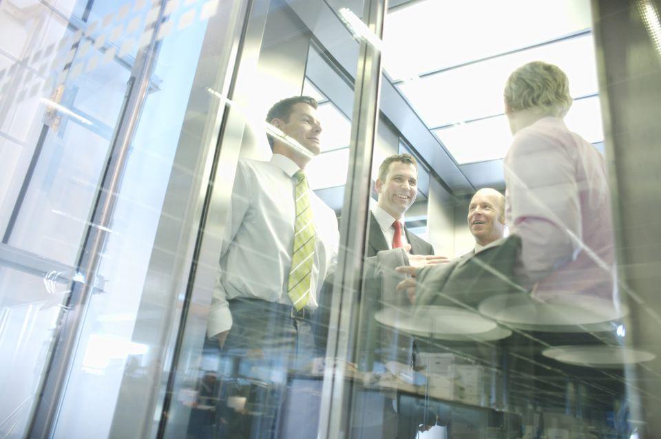 Men in elevator