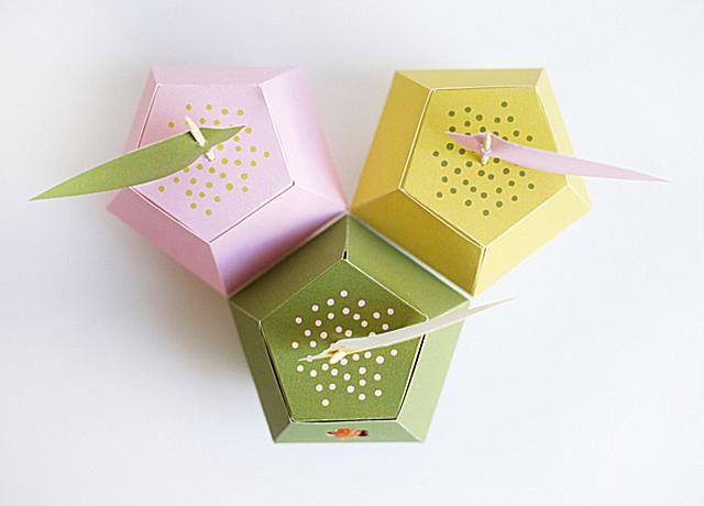 Cajas de favor de boda con forma de manzana