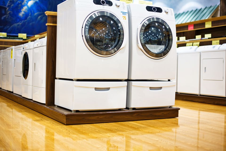 Washers and dryers Inside Electronics Store