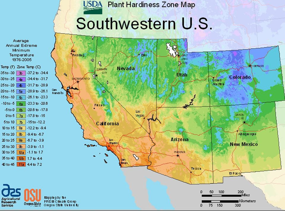 image usda growing zone map for the south west us