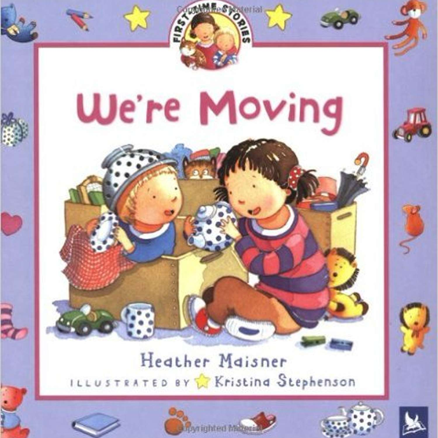 "Book cover of ""We're Moving"""
