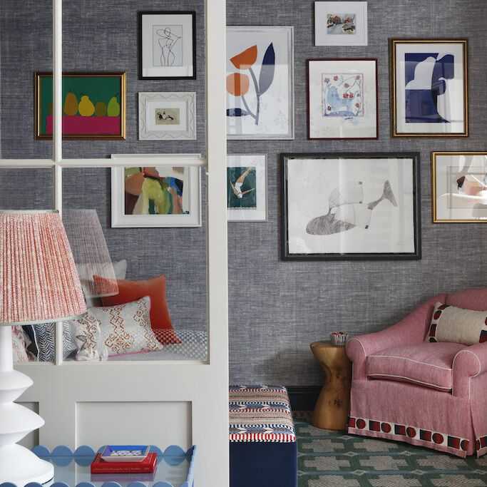 gallery wall with various frame types