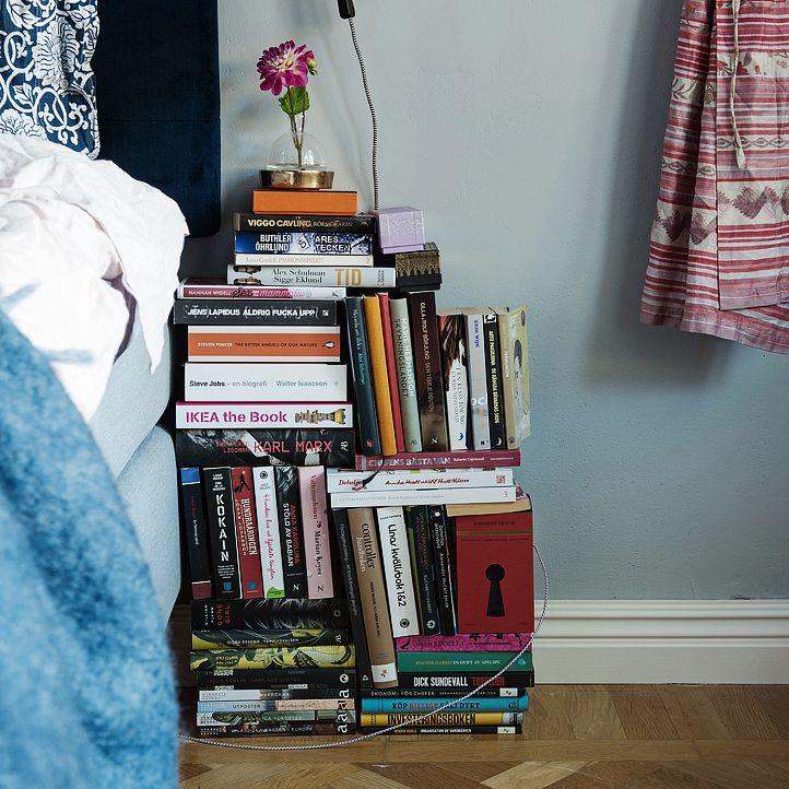 books as nightstand