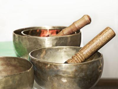 Three Tibetan singing bowls