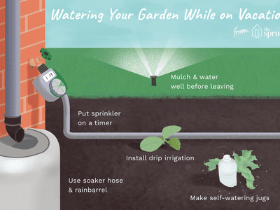 watering your garden while on vacation