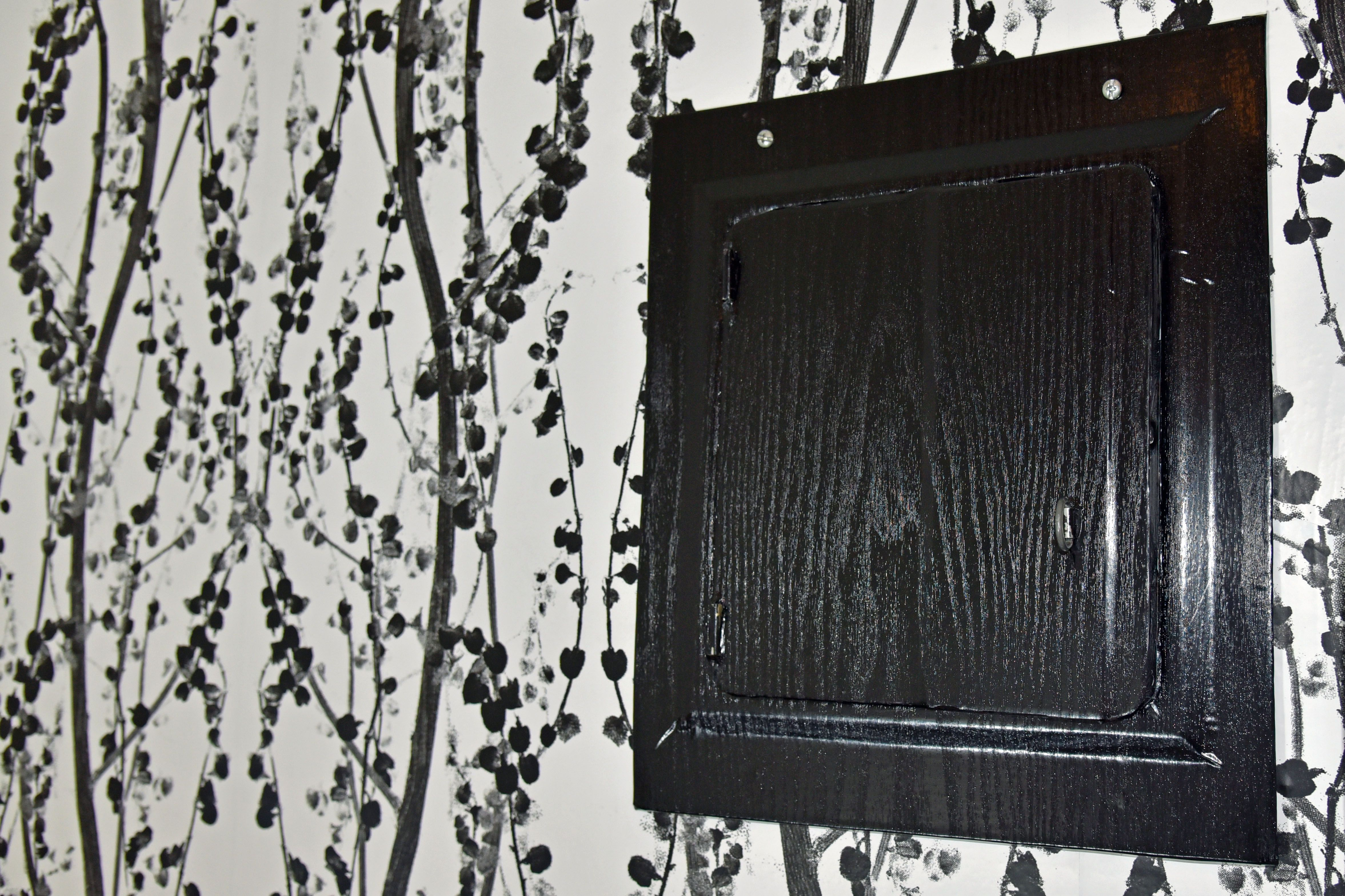 Hide Your Ugly Electrical Panel With This Ikea Hack Box Also Circuit Breaker Covers On Fuse Fire