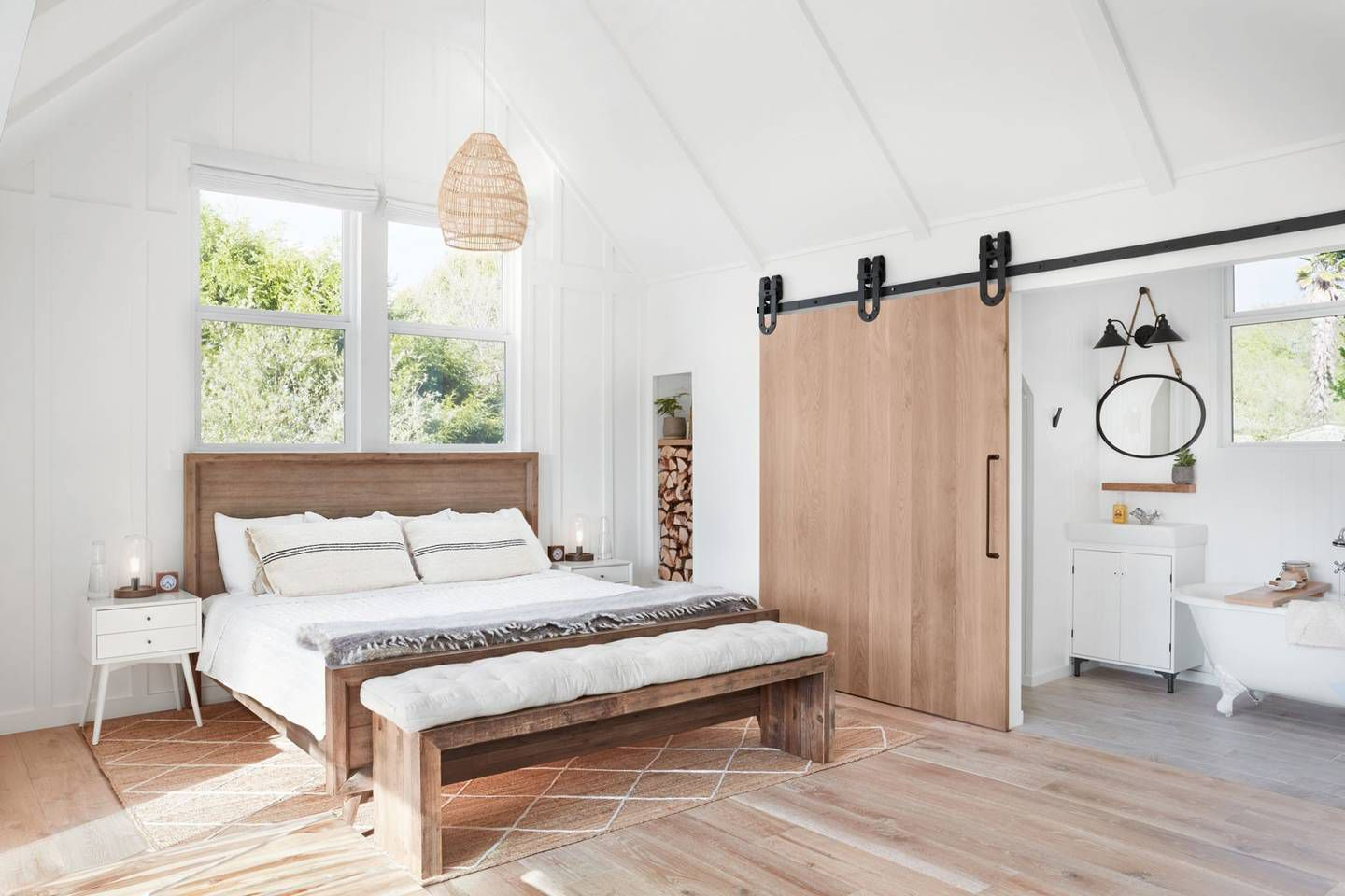Farmhouse style airbnb room