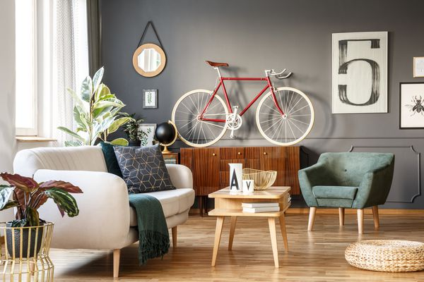 Clutted and small living room