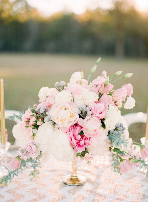 Centro de mesa para bodas Lisianthus Spring