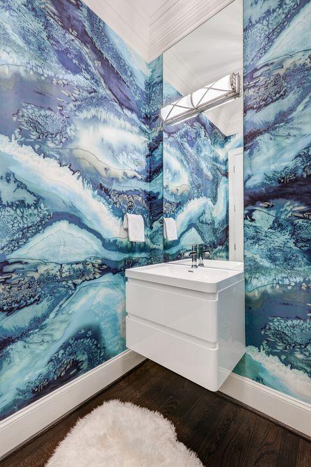 Fondo de pantalla inspirado en el océano en el baño náutico