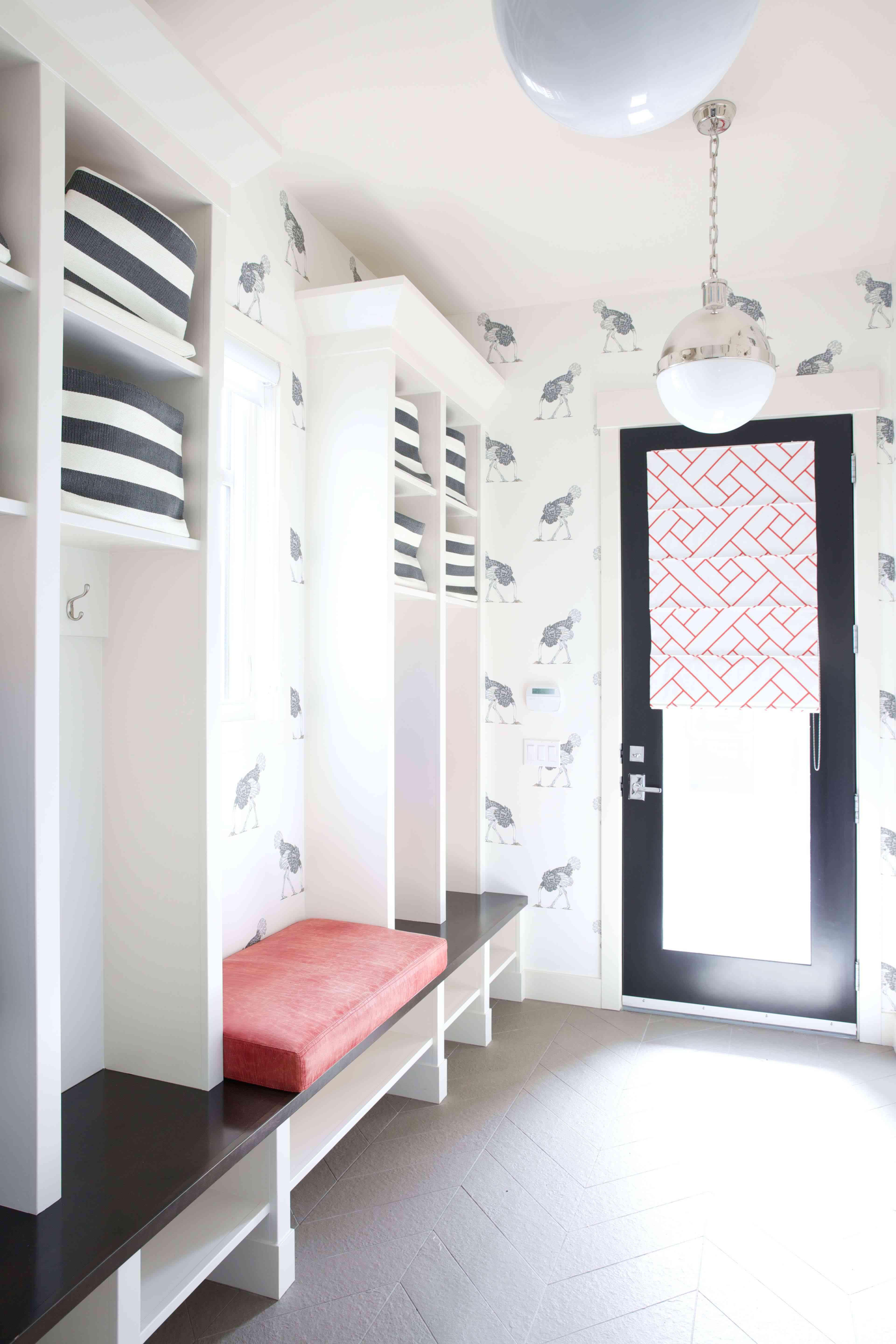 Mudroom with bench seating