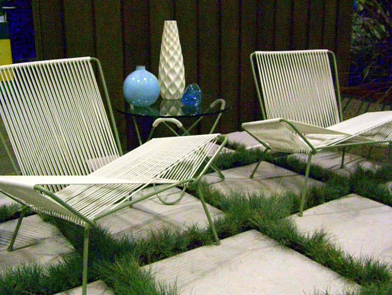 retro strap patio chairs