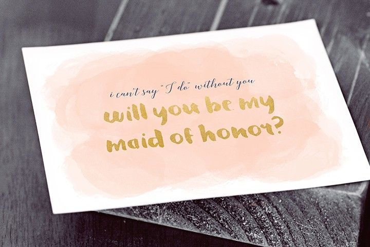 A Will You Be My Maid Of Honor Card On Table