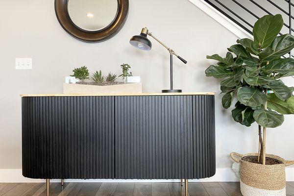IKEA hack for Crate & Barrel-inspired sideboard
