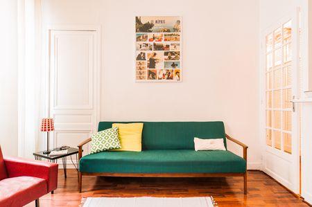 Midcentury Sofa Studio Apartment