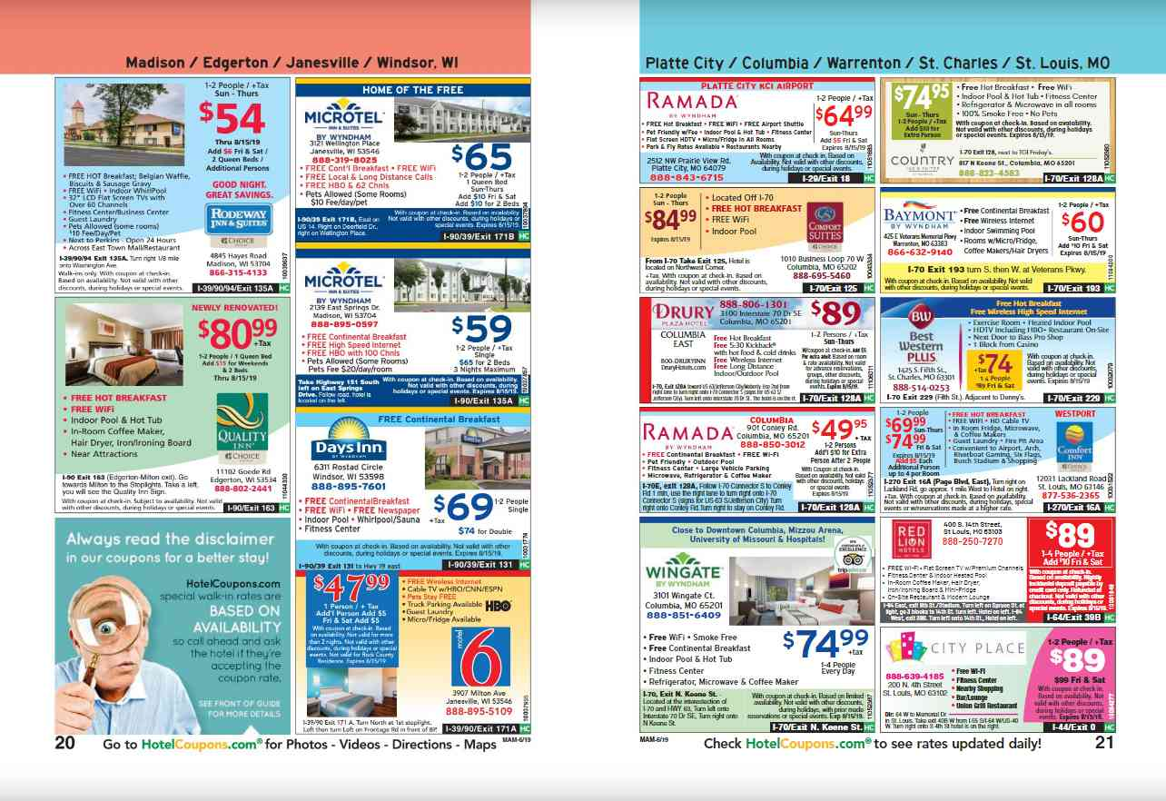 Free printable hotel coupons by region